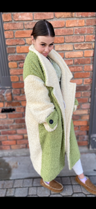 Faux Fur Shearling Coat
