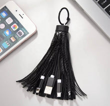 Load image into Gallery viewer, Tassel chargers for android and Apple