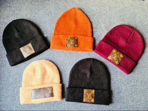 Preorder Authentic Upcycled LV Beanies.