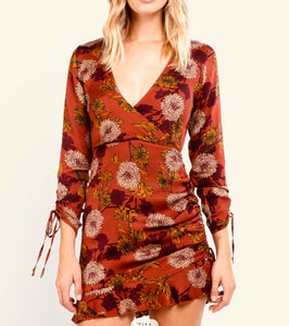 Red Pear Flower Dress