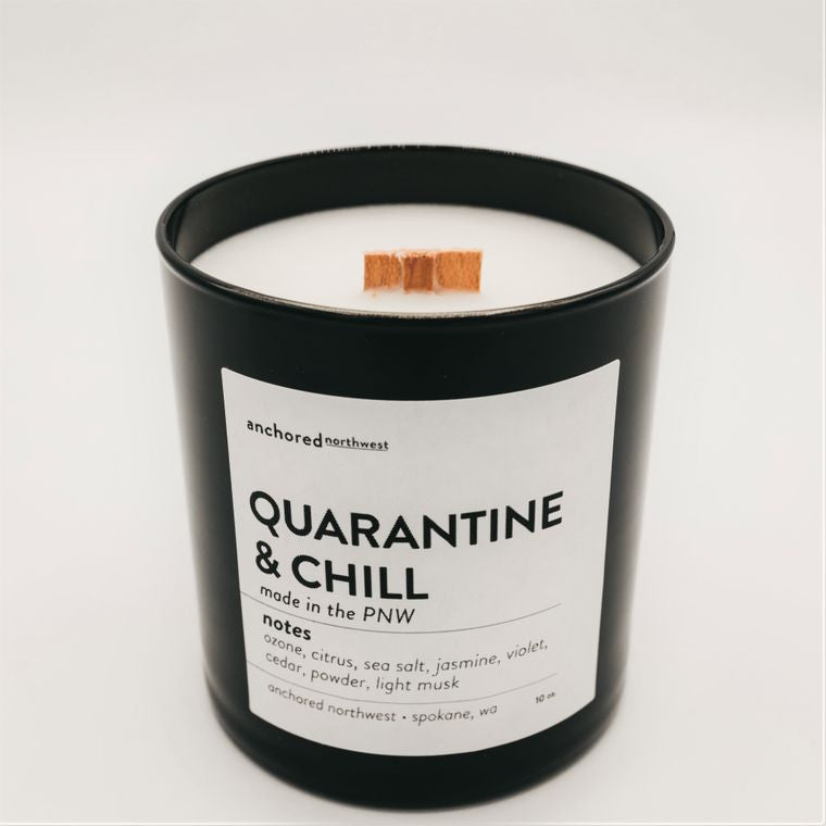 Quarantine & Chill - Black Tumbler w/ cover