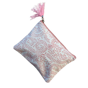 Pink Swirls Medium Pouch