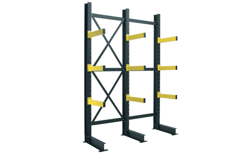 Cantilever - Heavy Duty Single Sided Cantilever Racking Starter Bay - Height up to 6000mm -  - The Cracking Racking Ltd