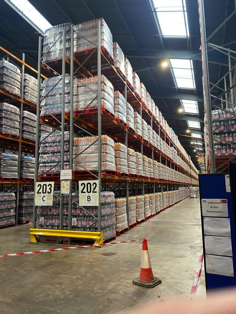 Run of 37 Joined Bays of Dexion P90 Pallet Racking - 6.3m x 2.5m x 1.1m