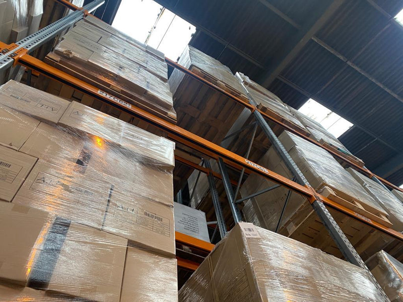 Run of 37 Used Dexion Pallet Racking - 5.4m x 2.5m x 1.1m with 2 Levels