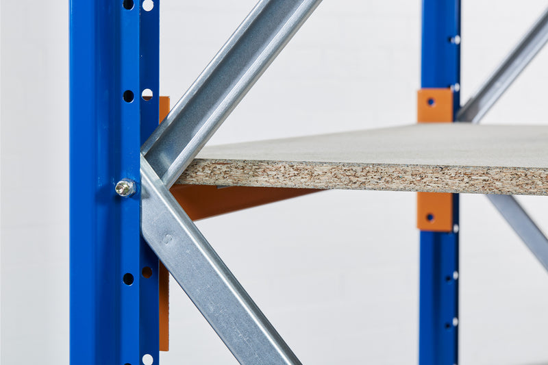 Close up of the bracing connected to the frame