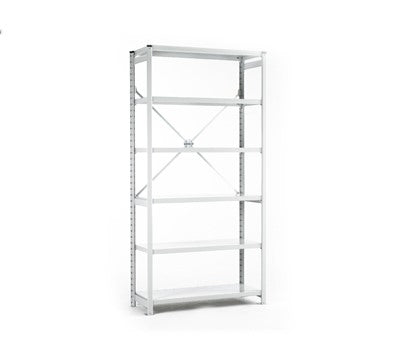 Link51 Euro Shelving - Open Back and Sides - 6 Shelf Levels - Starter Bay - Various Sizes