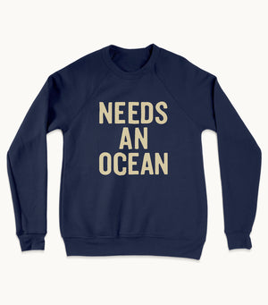 Stacked Navy Sweatshirt