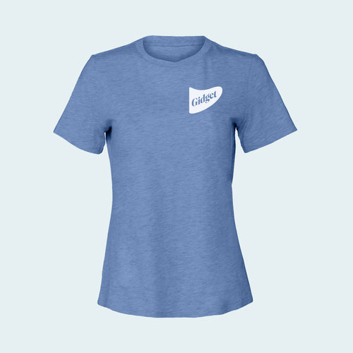 Kids dolphin blue colored  t-shirt with pocket-print of fin logo