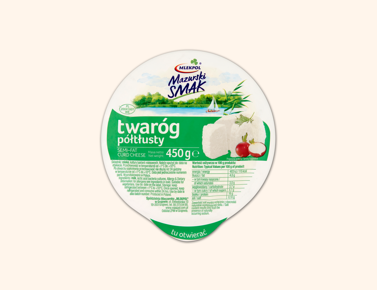 Curd Cheese, Semi Fat