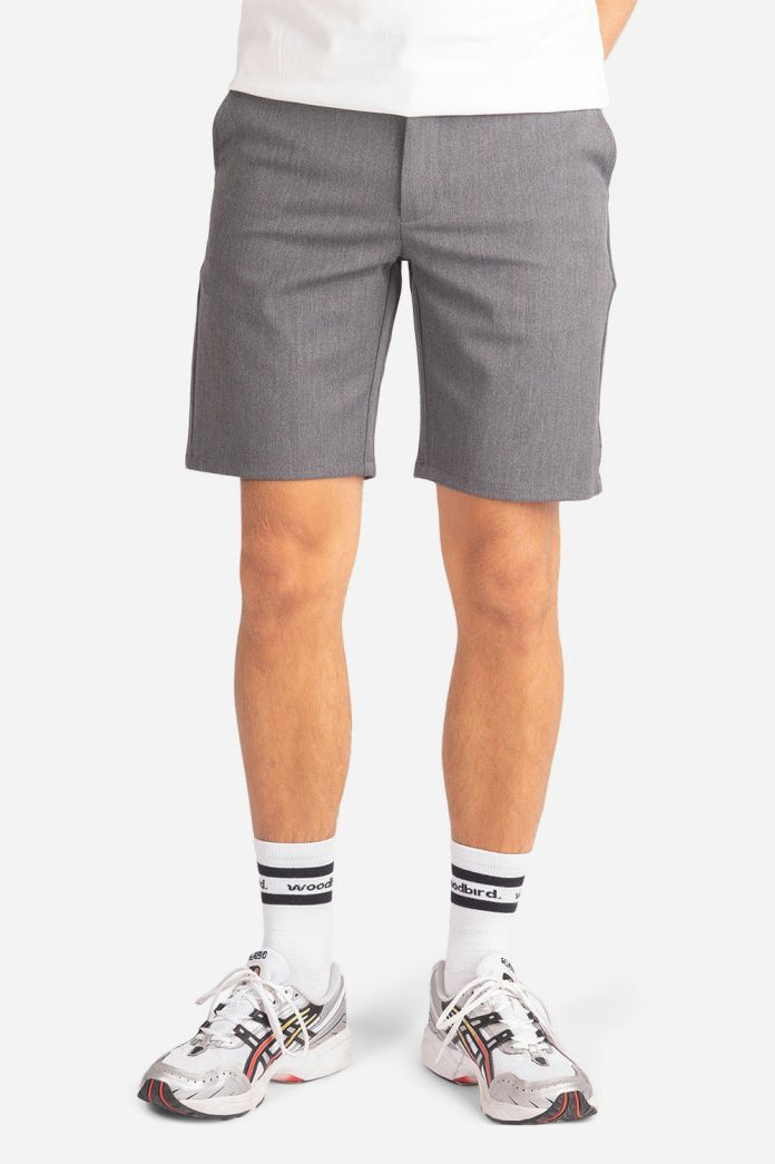 Steffen Twill Shorts - Light Grey