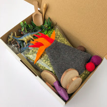 Load image into Gallery viewer, Dino Dig Sensory Play Kit with Wooden Play Box