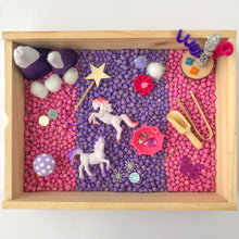 Load image into Gallery viewer, Unicorn Utopia Sensory Play Kit with Wooden Play Box