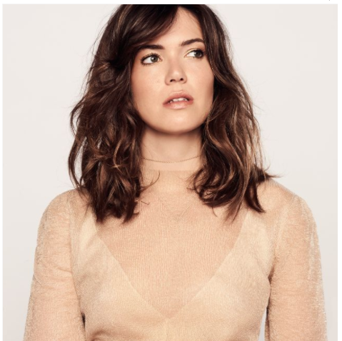 The Binx Chain Choker on Mandy Moore in Who What Wear