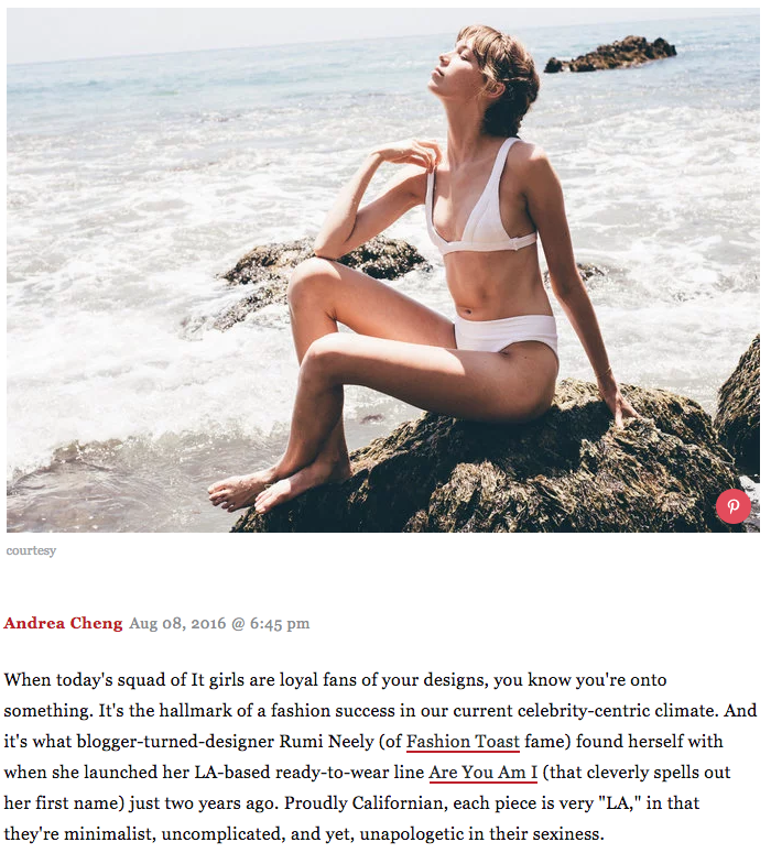 Swimwear Launch Featured in InStyle