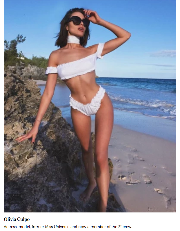 Olivia Culpo for Us Weekly in the Tuille Swim Set