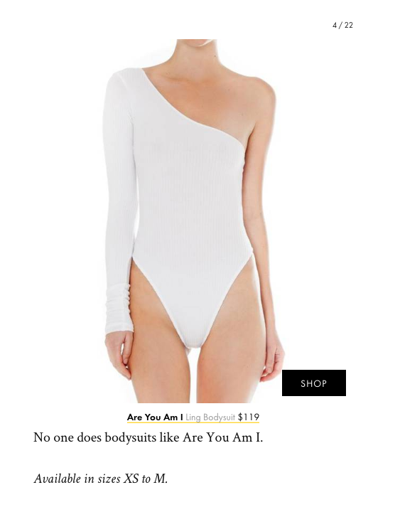 The Ling Bodysuit in Who What Wear's Best New Arrivals