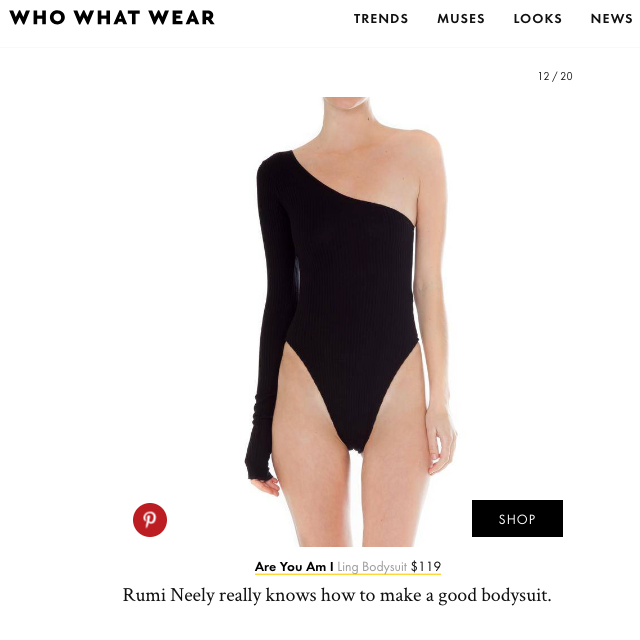 Ling bodysuit on Who What Wear's Favorite Tops