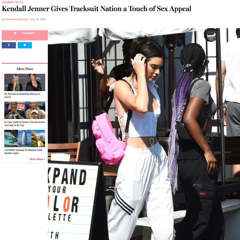 Dulcinea on Kendall Jenner in Us Weekly