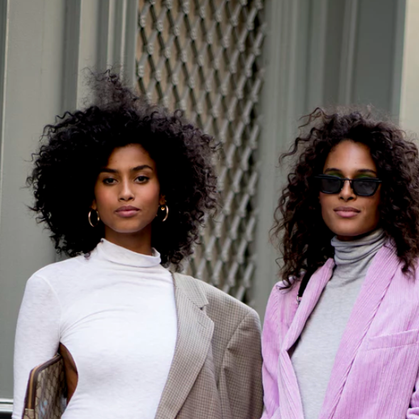Denz dress on Imaan Hammam in the Zoe Report