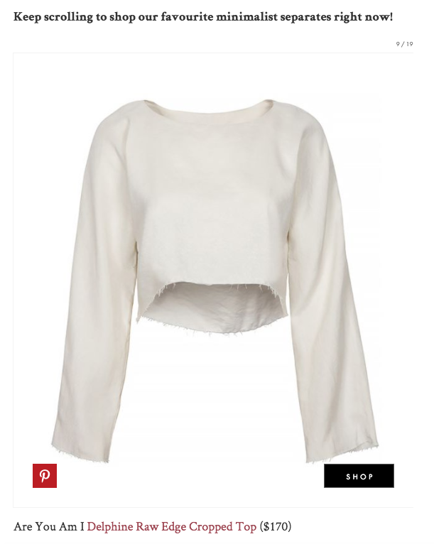 Are You Am I - Delphine Cropped Top - Who What Wear
