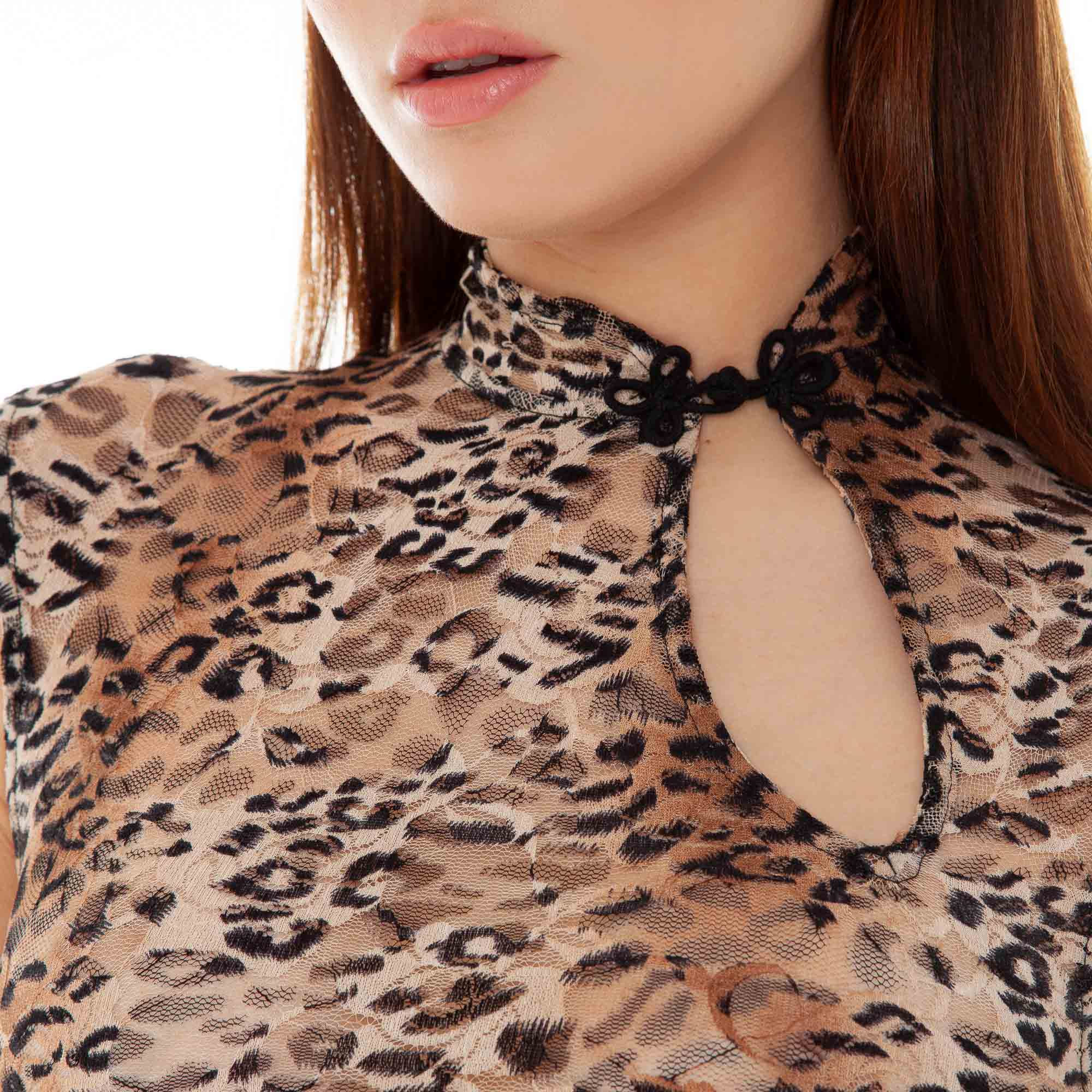 Are You Am I - Bibi Leopard Top