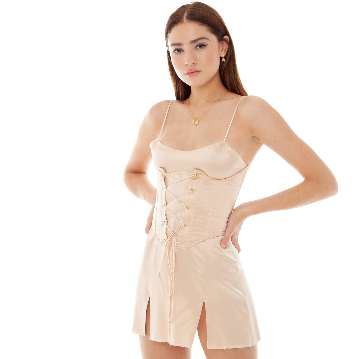 Are You Am I - Faira Corset **fawn