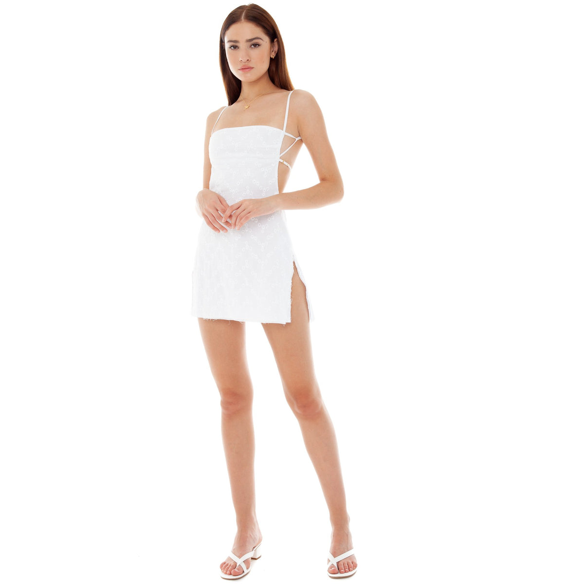 Are You Am I - Missi Eyelet Dress **white