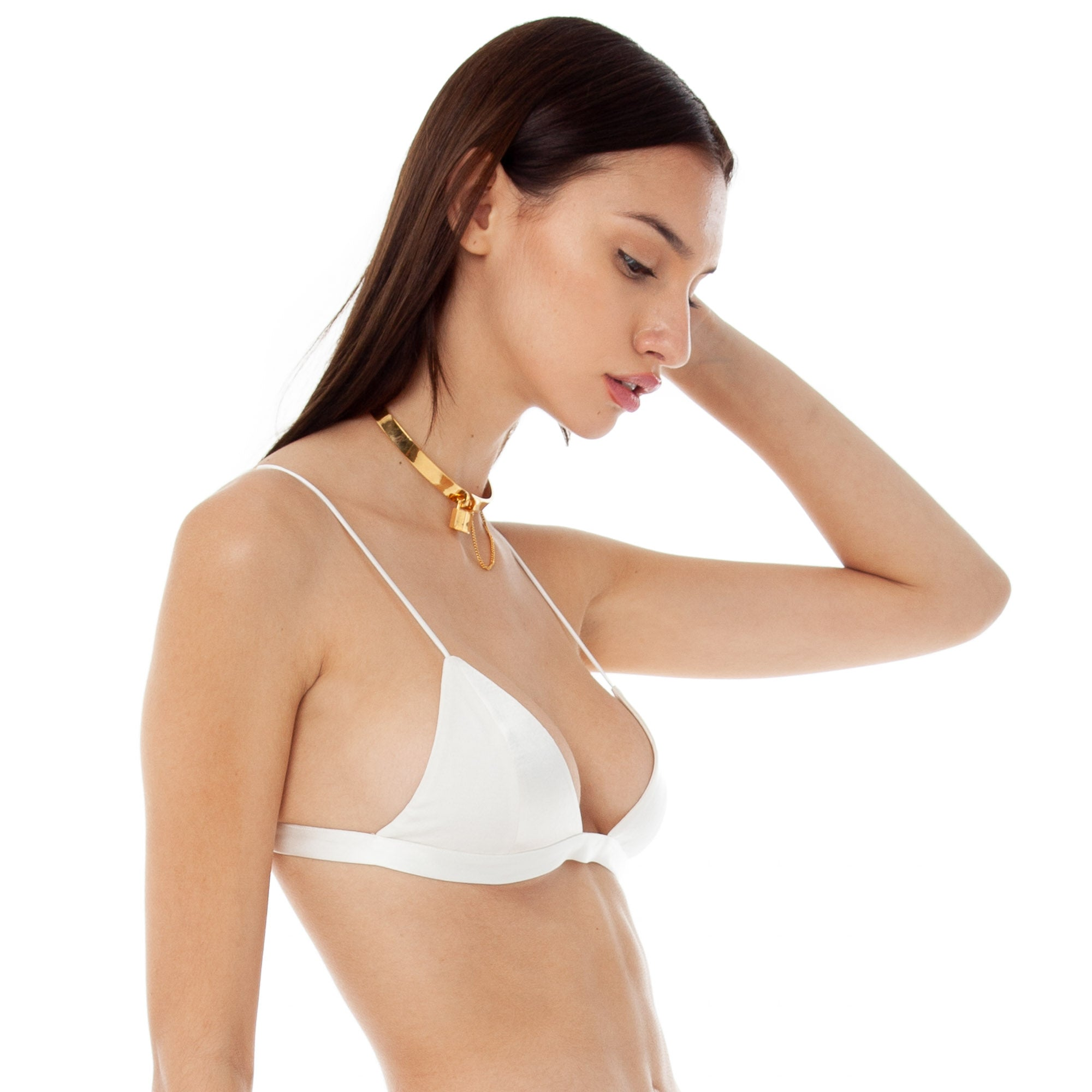 Are You Am I - Nyx Satin Bra **white