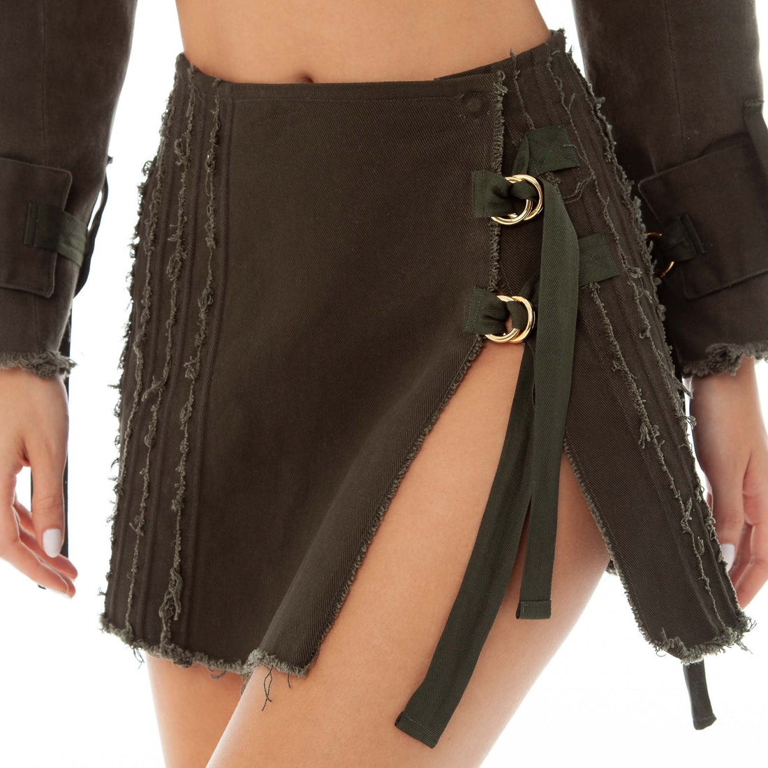 Are You Am I - Kolten Skirt **army