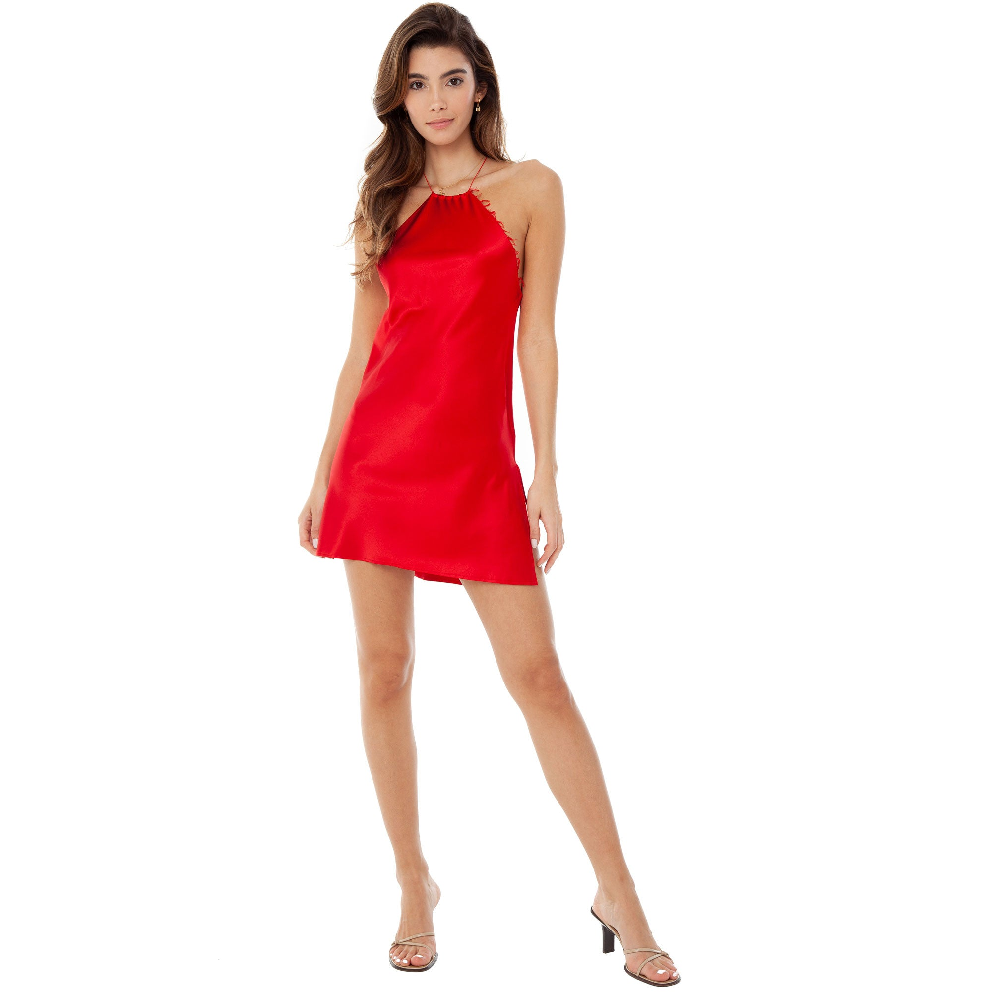 Are You Am I - Senna Dress **cherry red