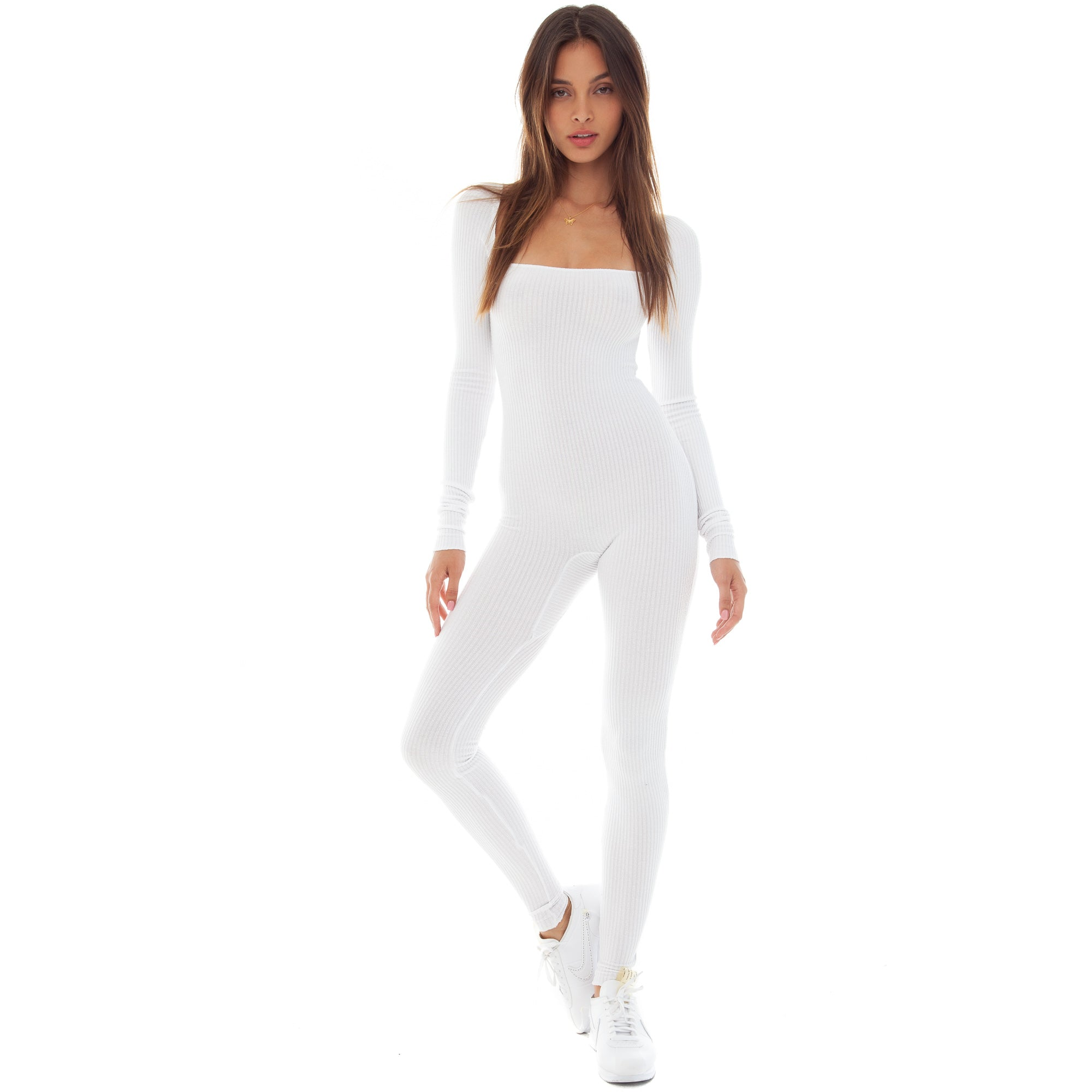 Are You Am I - Anke Catsuit **white