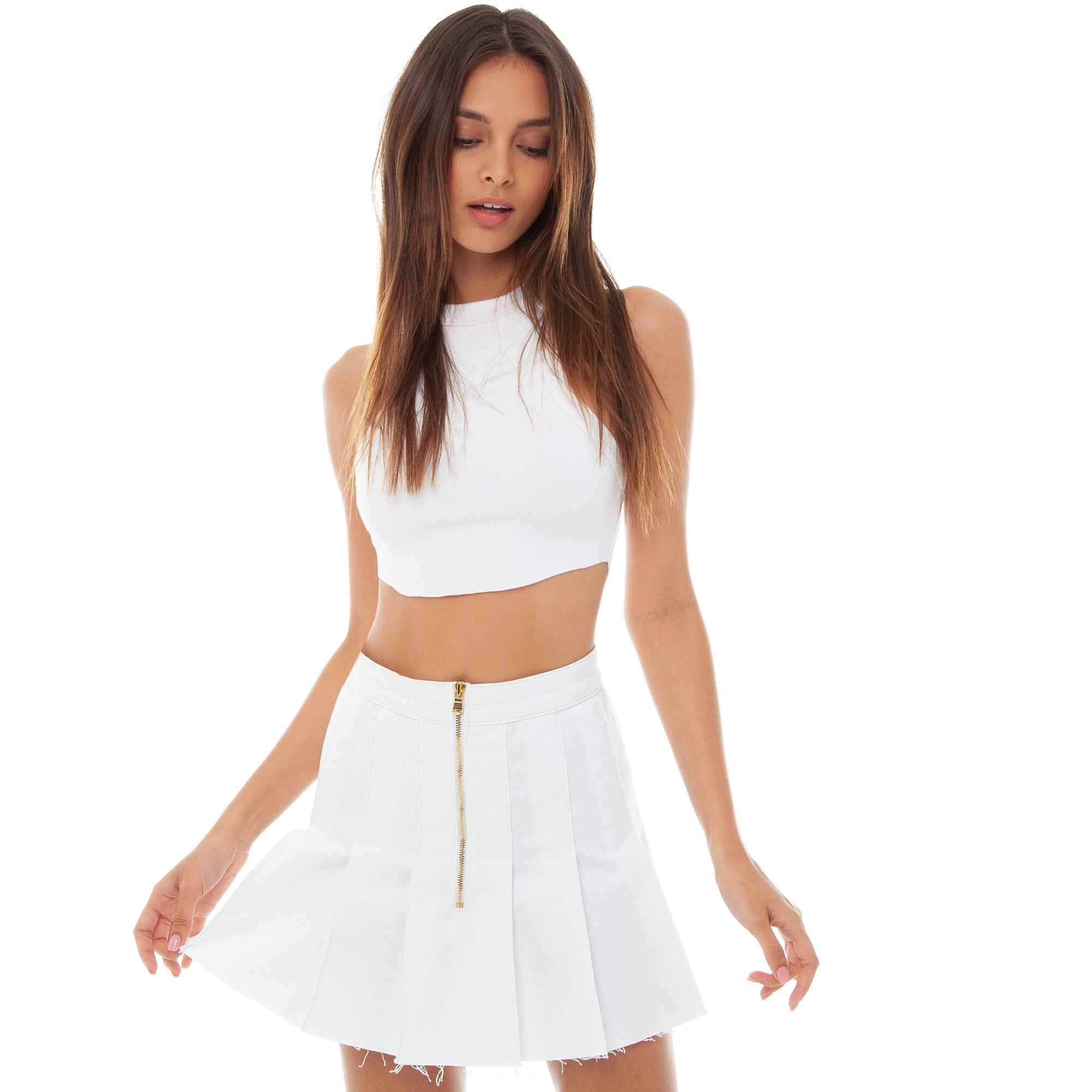 Are You Am I - Chielle Skirt **white