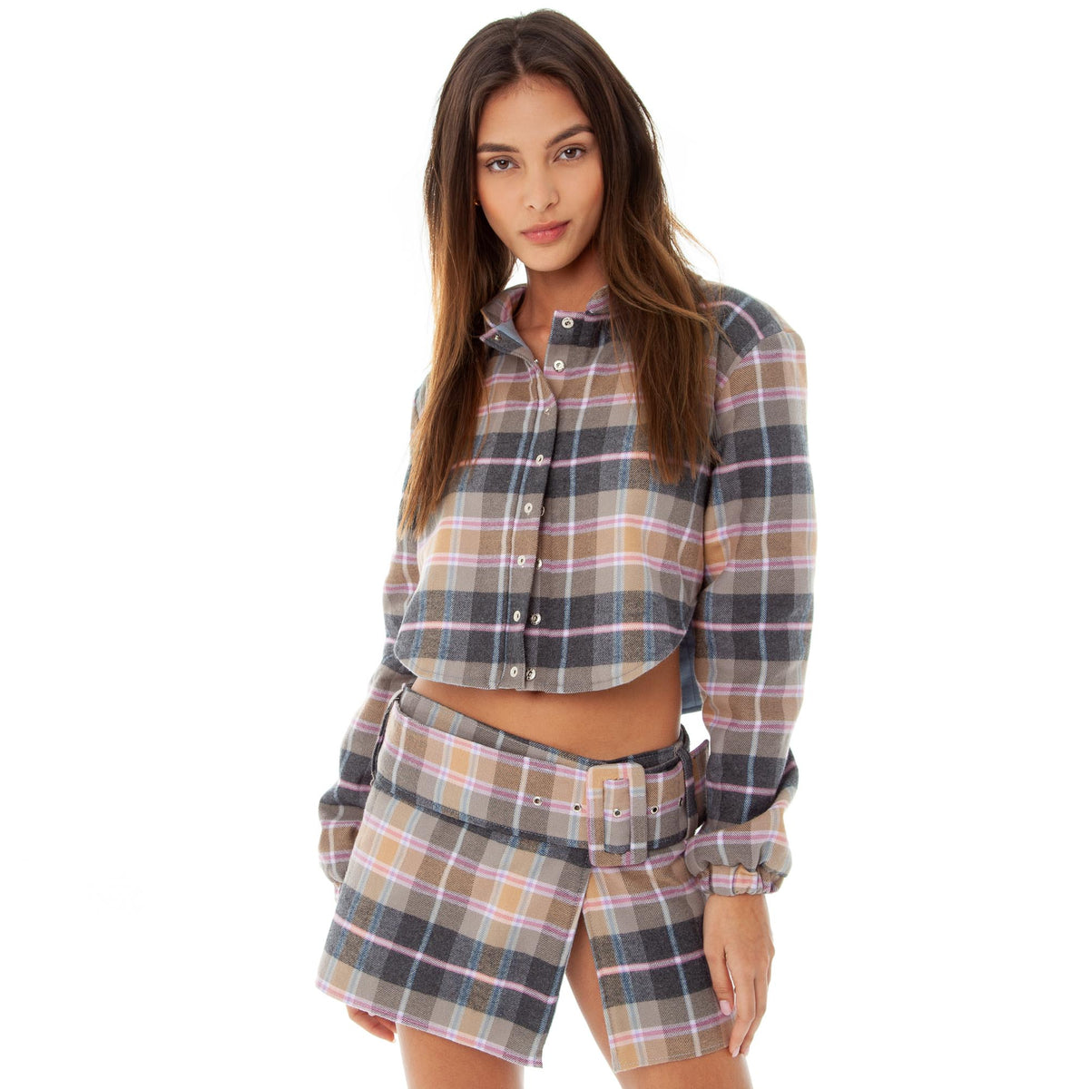 Are You Am I - Ketki Plaid Skirt **pink-plaid