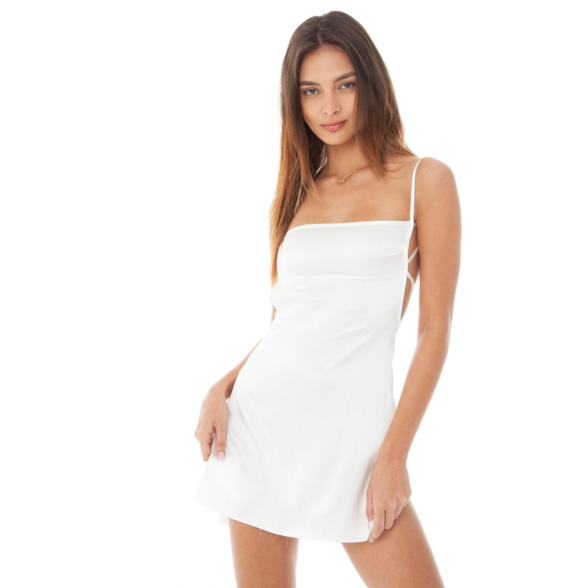 Are You Am I - Missi Dress **white