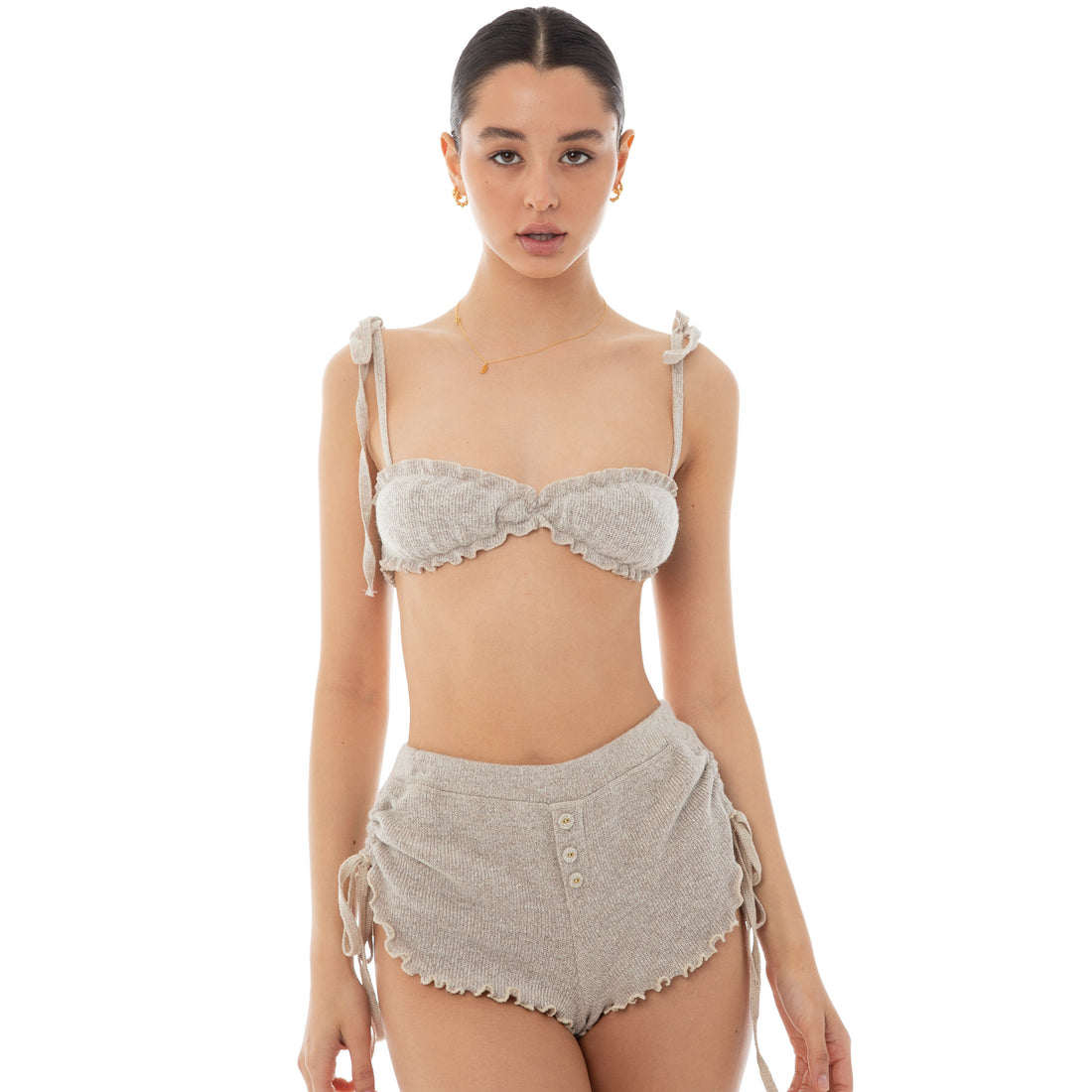Are You Am I - Ammel Bralette **oatmeal