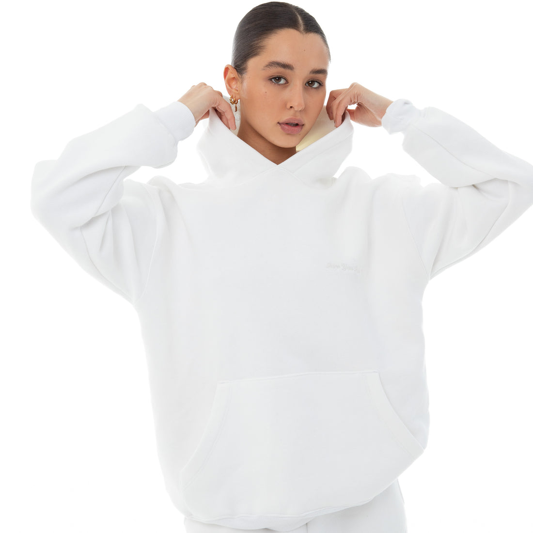 Are You Am I - Dewe Hoodie **white