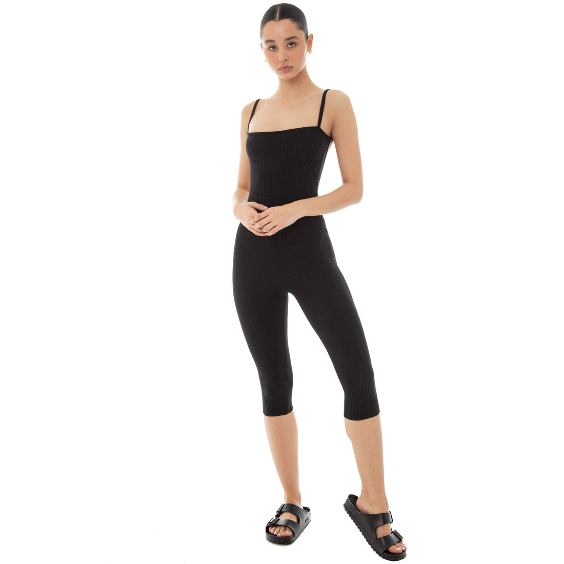 Are You Am I - Kitta Capri Catsuit **black