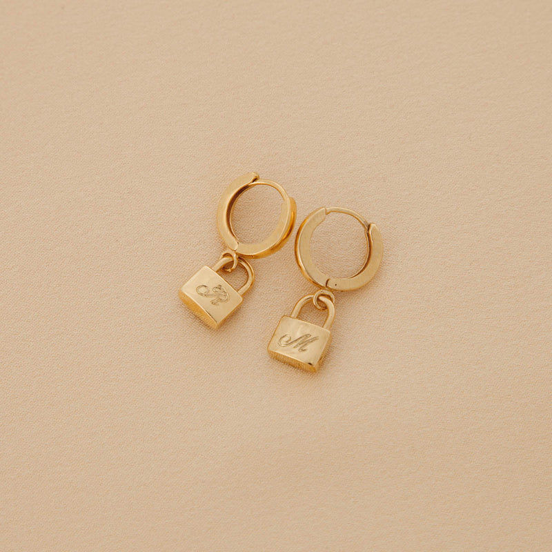 Are You Am I - Lira Earrings **engraved
