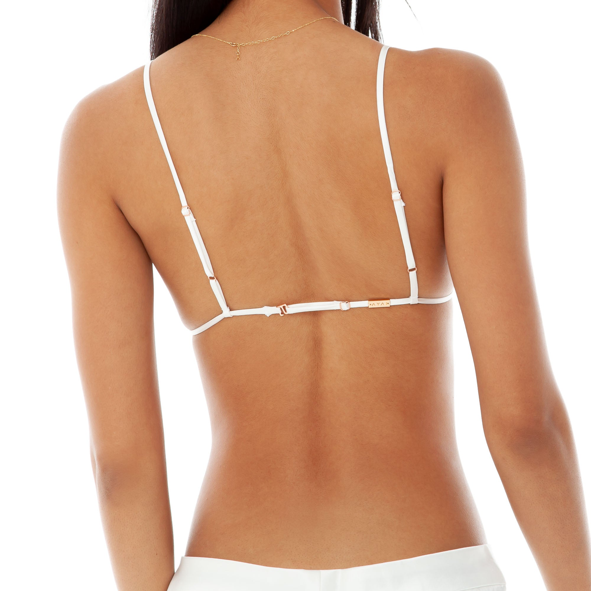 Are You Am I - Lell String Bra **white