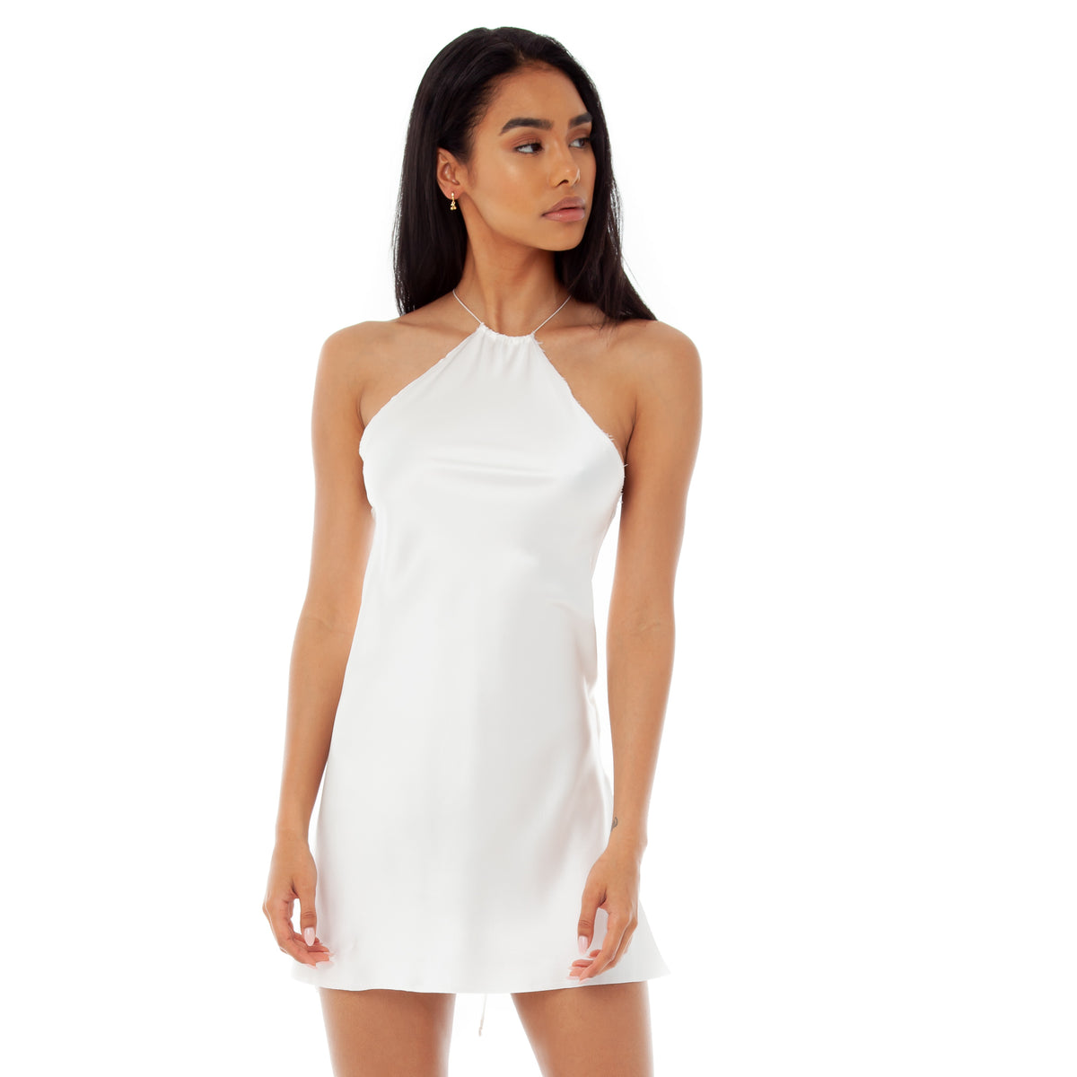 Are You Am I - Senna Dress **white