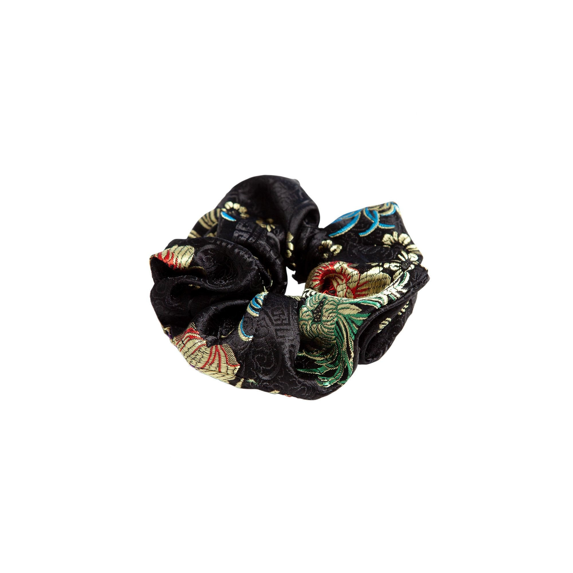 Are You Am I - Nini Brocade Scrunchie **black