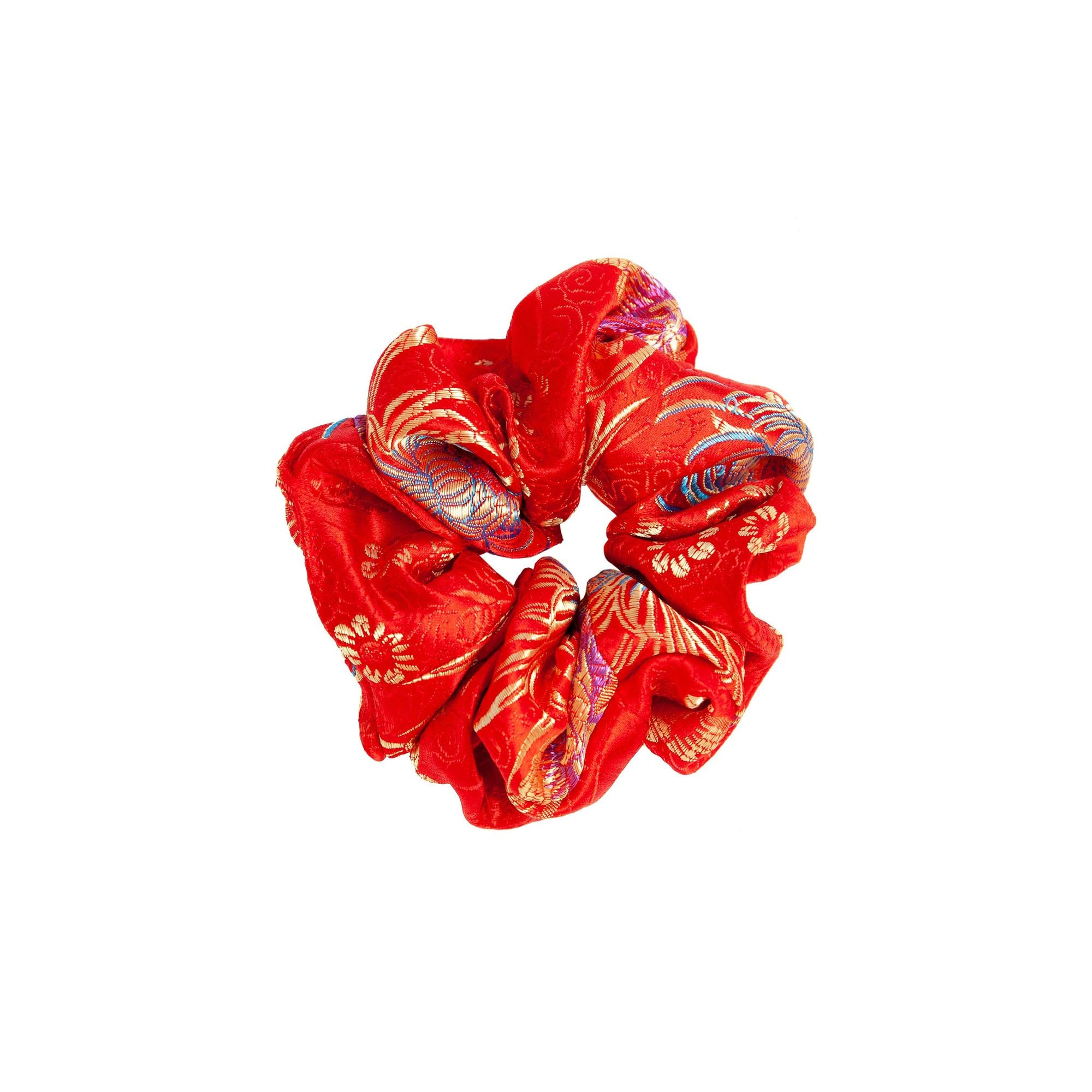 Are You Am I - Nini Brocade Scrunchie **red