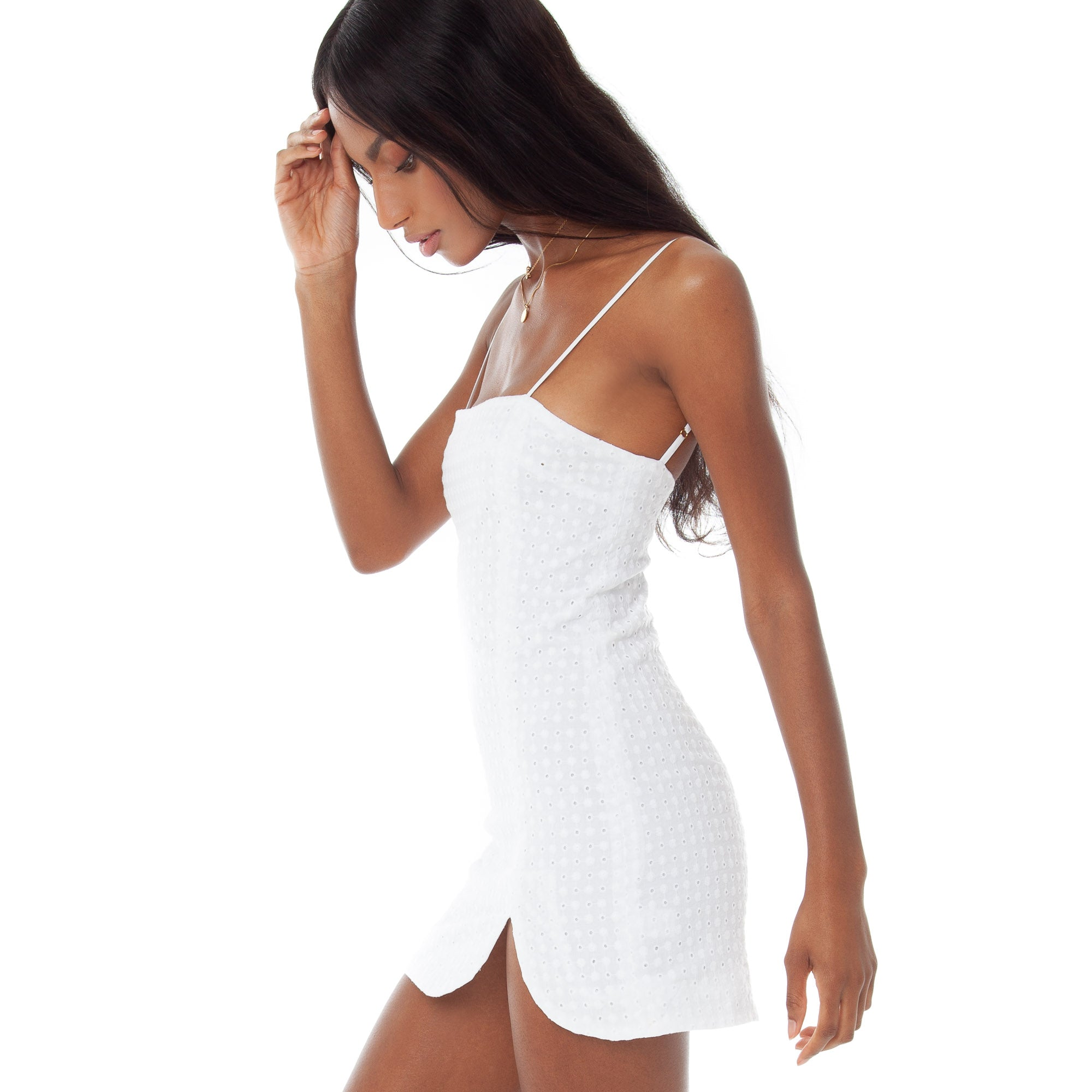 Are You Am I - Chiaki Eyelet Dress