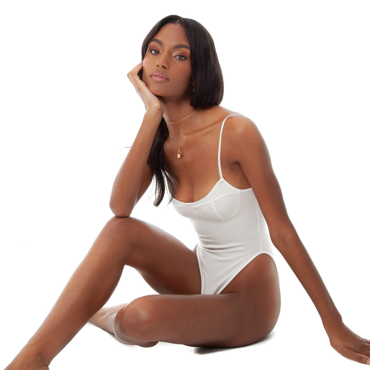 Are You Am I - Kaat Bodysuit **white