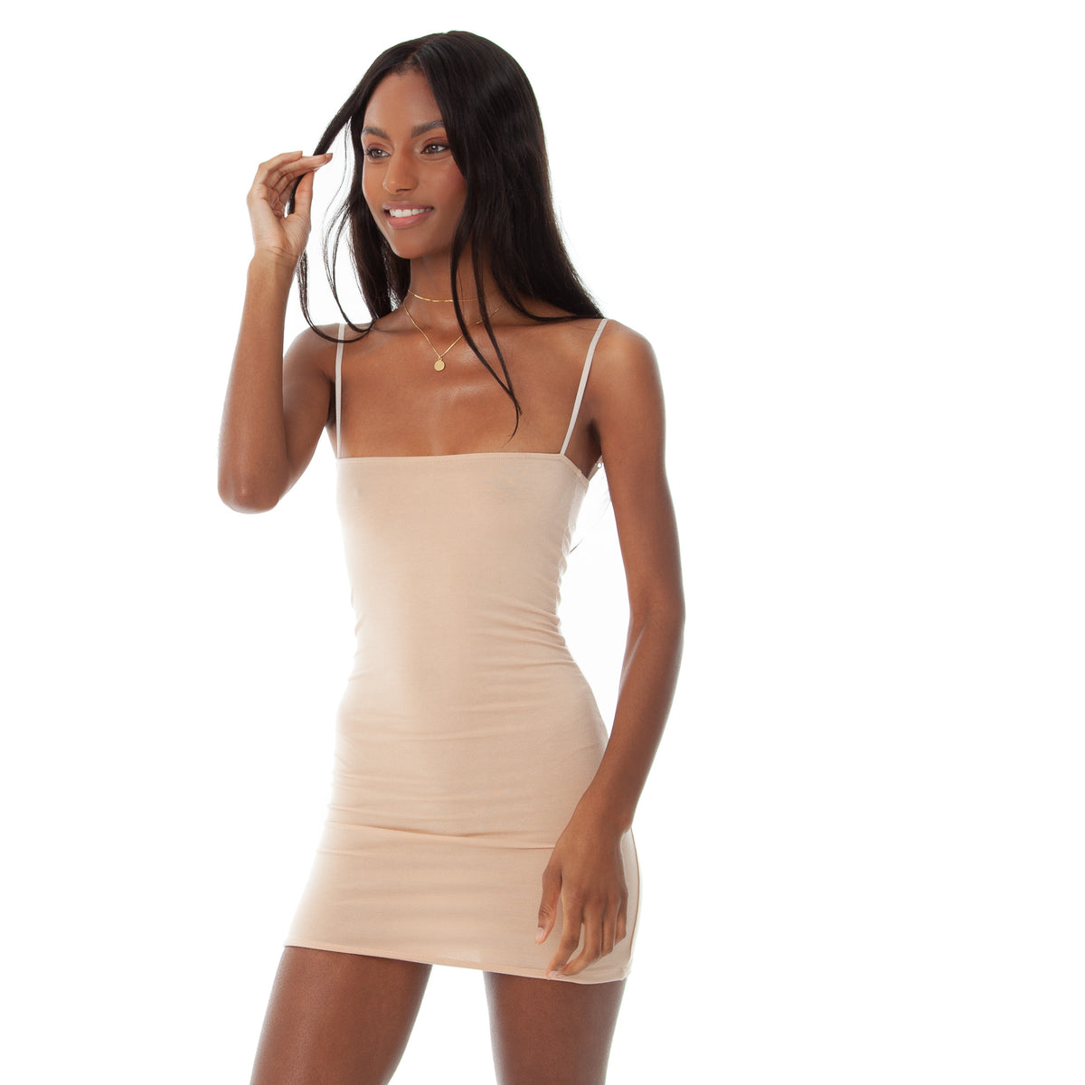 Are You Am I - Kimia Dress **nude