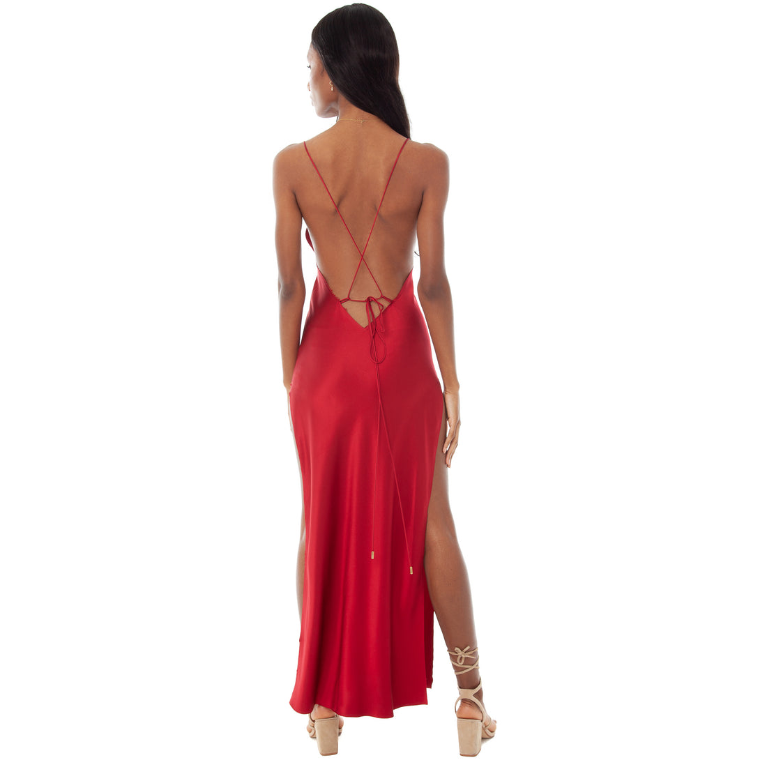 Are You Am I - Nyissa Dress **blood-red