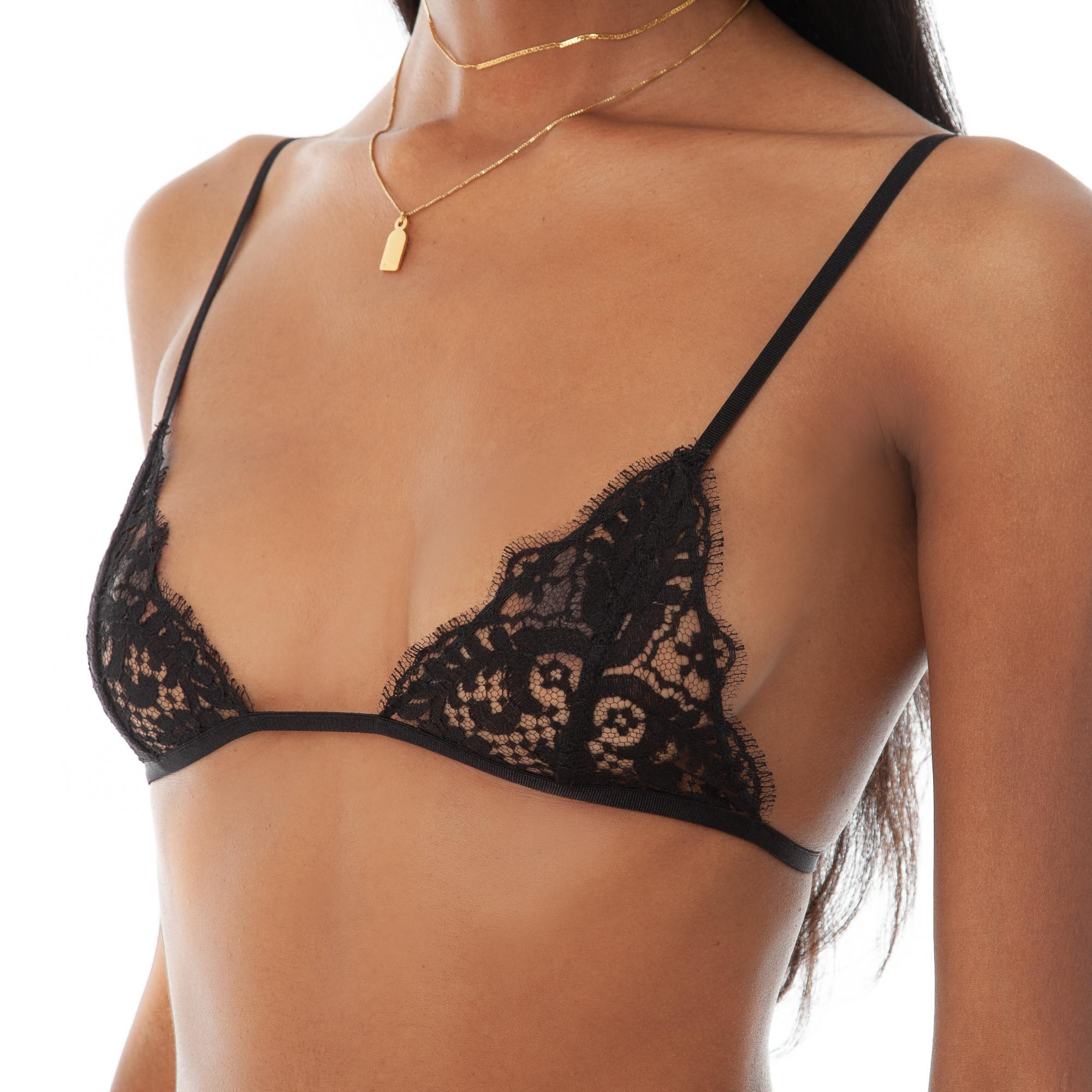 Are You Am I - Sylph Lace Bra **black