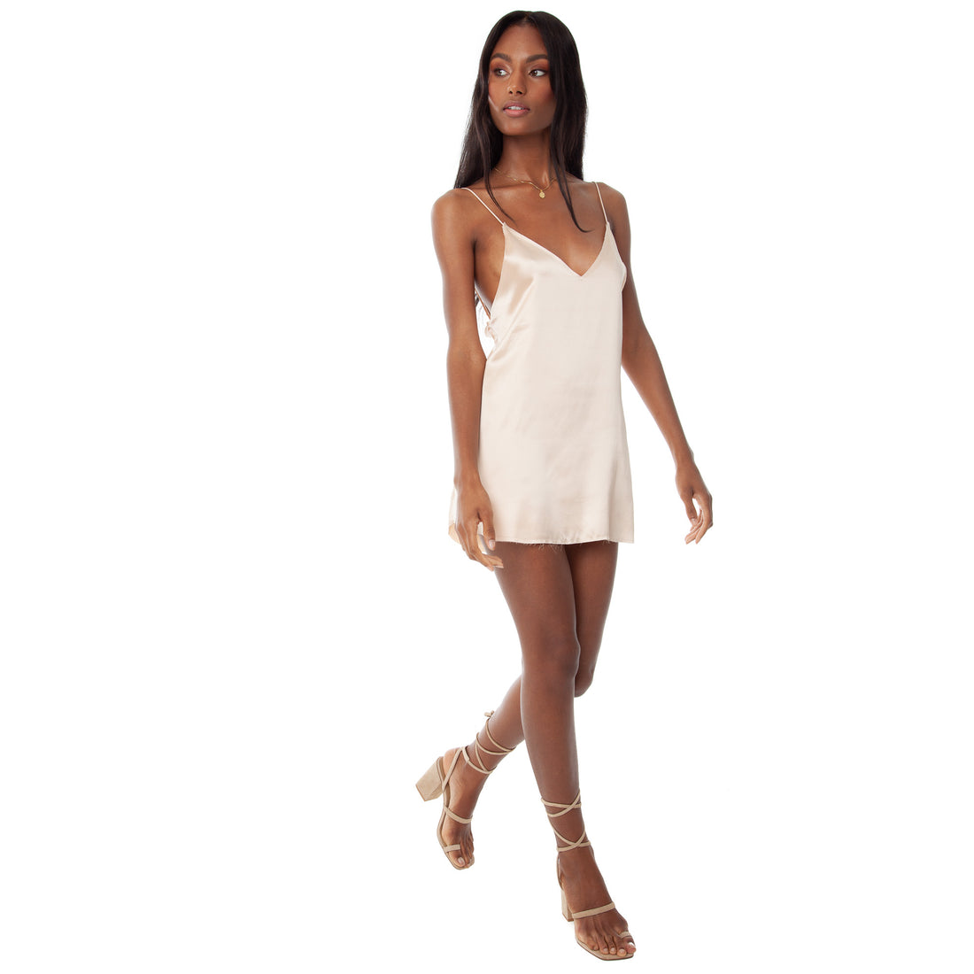 Are You Am I - Zillah Slip Dress **blush