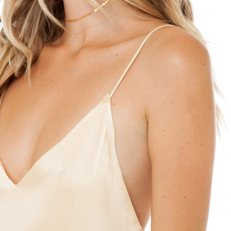 Are You Am I - Zillah Slip Dress **gold
